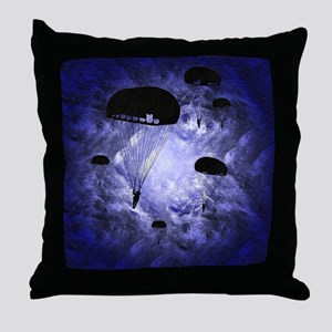 Harvest Moons Paratroopers Throw Pillow