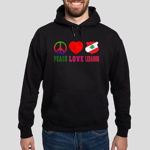 Peace Love Lebanon Hoodie (dark)