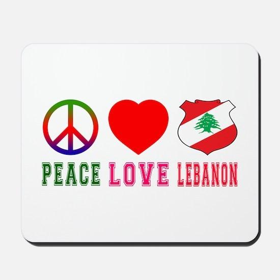 Peace Love Lebanon Mousepad