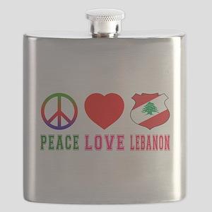 Peace Love Lebanon Flask