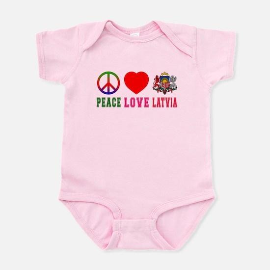 Peace Love Latvia Infant Bodysuit