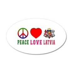 Peace Love Latvia Wall Sticker