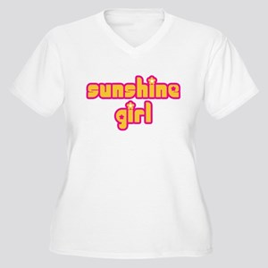 Sunshine Girl Women's Plus Size V-Neck T-Shirt