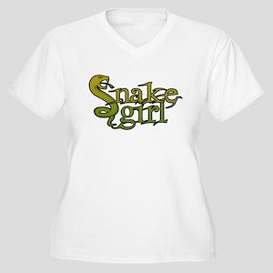 Snake Girl Women's Plus Size V-Neck T-Shirt