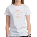 Herding Champion CDS Women's T-Shirt