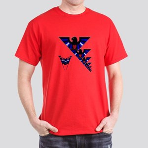 LEATHER EAGLES W/PRIDE FLAGS Dark T-Shirt
