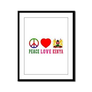 Peace Love Kenya Framed Panel Print
