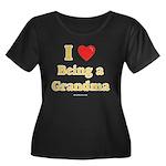 Love being Grandma Women's Plus Size Scoop Neck Da
