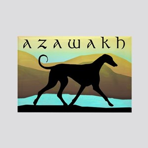 Azawakh Seaside Rectangle Magnet