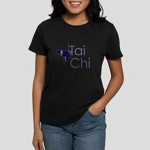 Tai Chi Butterfly 3 Women's Dark T-Shirt