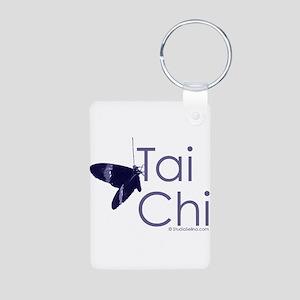 Tai Chi Butterfly 3 Aluminum Photo Keychain