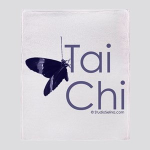 Tai Chi Butterfly 3 Throw Blanket