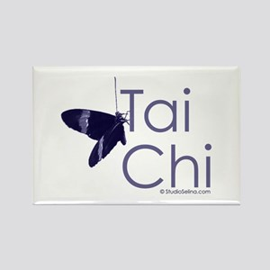 Tai Chi Butterfly 3 Rectangle Magnet