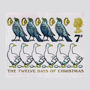 1977 Great Britain 12 Days of Christmas Stamp Thro