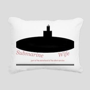 Silent service submarine Rectangular Canvas Pillow