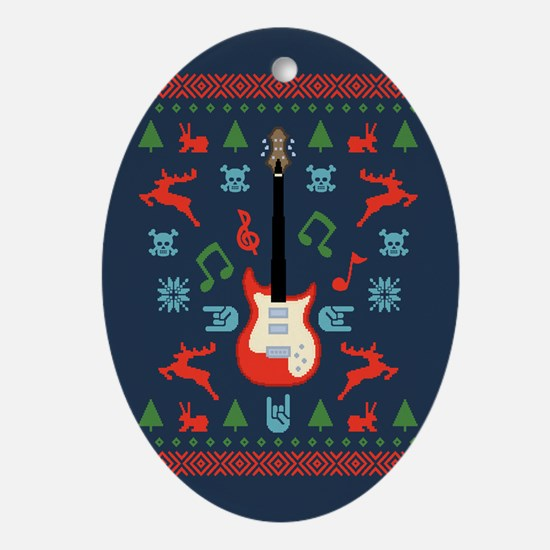 Rock Ugly Sweater Ornament (Oval)