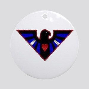 LEATHER EAGLE/BRICK/RED/ Ornament (Round)