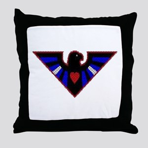 LEATHER EAGLE/BRICK/RED/ Throw Pillow
