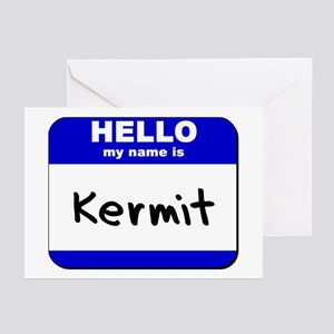 Kermit the frog greeting cards cafepress hello my name is kermit greeting cards package o m4hsunfo