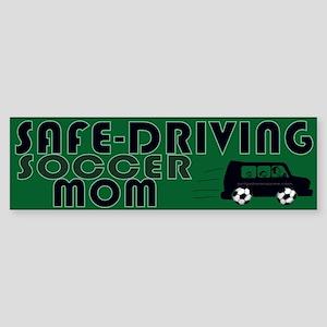 Safedriving Soccer Mom Sticker (Bumper)