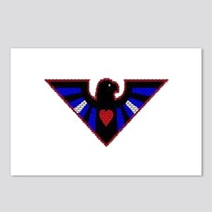 LEATHER EAGLE/BRICK/RED/ Postcards (Package of 8)
