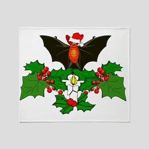 Batty Christmas Throw Blanket