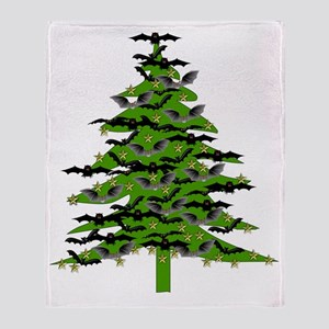 Bat Christmas Tree Throw Blanket