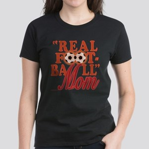 Real Football (sunset) Women's Dark T-Shirt