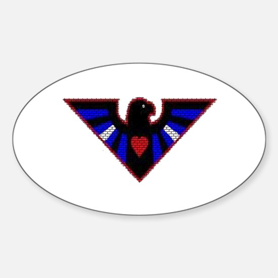 LEATHER EAGLE/BRICK/RED/ Oval Decal