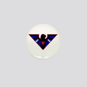 LEATHER EAGLE/BRICK/RED/ Mini Button