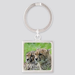 Cheetah009 Square Keychain