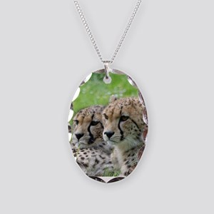 Cheetah009 Necklace Oval Charm