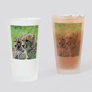 Cheetah009 Drinking Glass