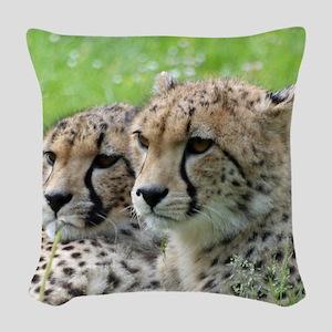 Cheetah009 Woven Throw Pillow