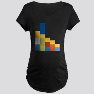 Rectangular Simpsons Maternity Dark T-Shirt