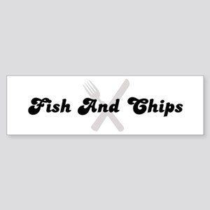Fish And Chips (fork and knif Bumper Sticker