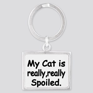 My Cat is really,really spoiled Keychains