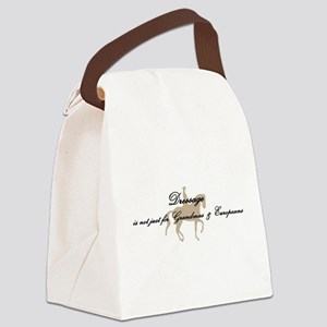Dressage Not Just w/ Horse Canvas Lunch Bag