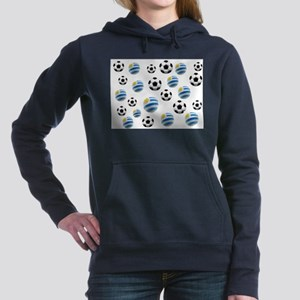 Uruguay Soccer Balls Hooded Sweatshirt