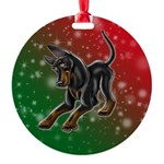 Toy Manchester Terrier Round Ornament