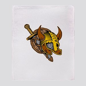 Helmet, Sword & Shield Throw Blanket