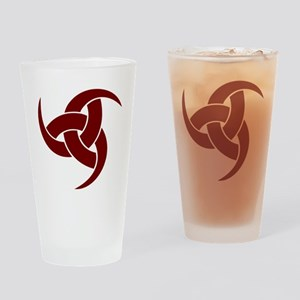 triple horn of odin Red Drinking Glass