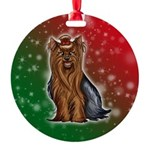 Yorkshire Terrier Round Ornament