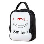 I Love Smiles Neoprene Lunch Bag