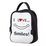 I Love Smiles Neoprene Lunch Bag