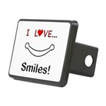 I Love Smiles Rectangular Hitch Cover