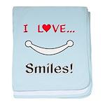 I Love Smiles baby blanket