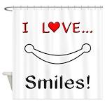I Love Smiles Shower Curtain