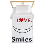 I Love Smiles Twin Duvet