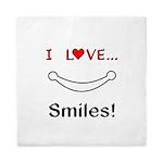 I Love Smiles Queen Duvet